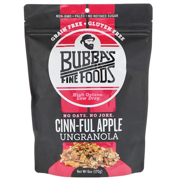 Bubba's Fine Foods, UnGranola, Cinn-Ful Apple, 6 oz (170 g)