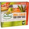 Biobag, フードスクラップバッグ, 小, 25バッグ, 3ガロン, 16.9インチ×17.7インチ×0.64ミル(43 cm × 45 cm ×16 um〈ミクロン〉)