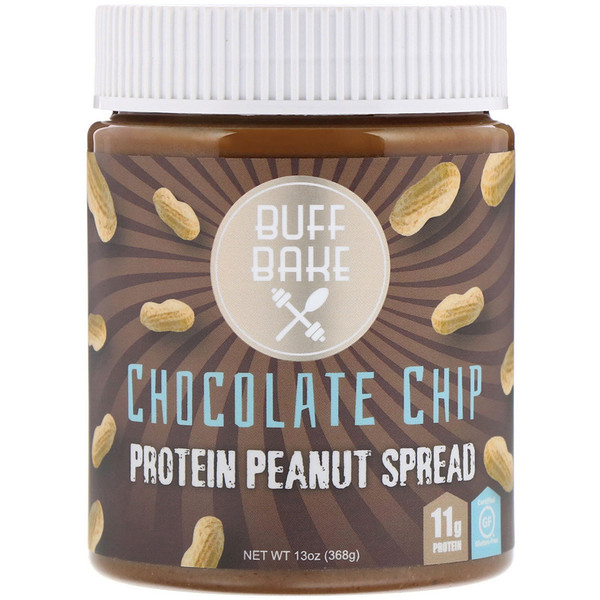 Buff Bake, Protein Peanut Spread, Chocolate Chip, 13 oz (368 g) (Discontinued Item)
