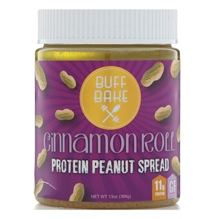 Buff Bake, Protein Peanut Spread, Cinnamon Roll, 13 oz (368 g)