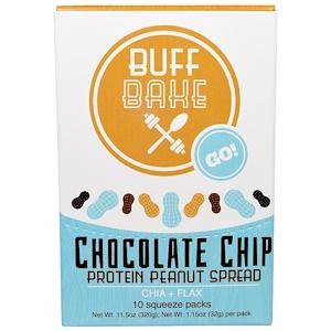Баф Бэйк, Chocolate Chip Protein Peanut Spread, Chia + Flax, 10 Squeeze Packs, 1.15 oz (32 g) Each отзывы покупателей