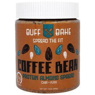 Buff Bake, Протеиновый Спред с Кофейными Зернами и Миндалем, 13 унций (368 г)