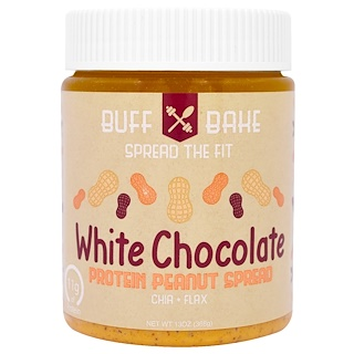 Buff Bake, White Chocolate Protein Peanut Spread, 13 oz (368 g)