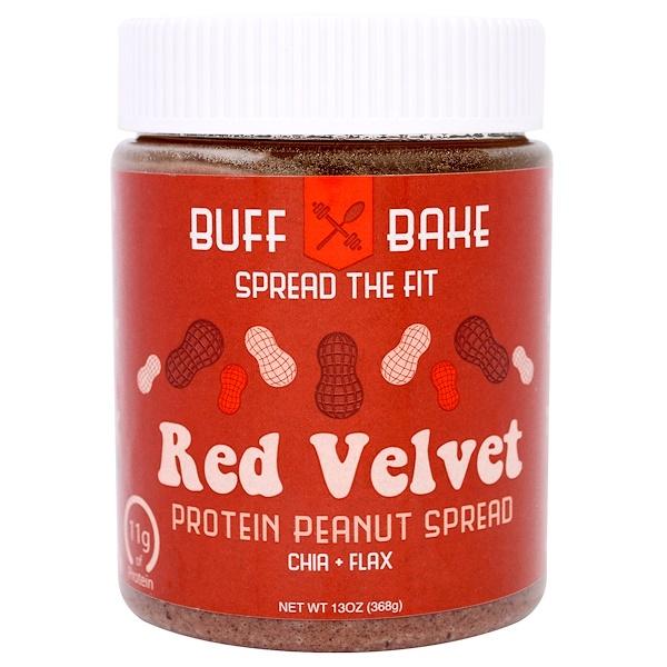 Buff Bake, 紅色天鵝絨蛋白花生醬,13盎司(368克) (Discontinued Item)