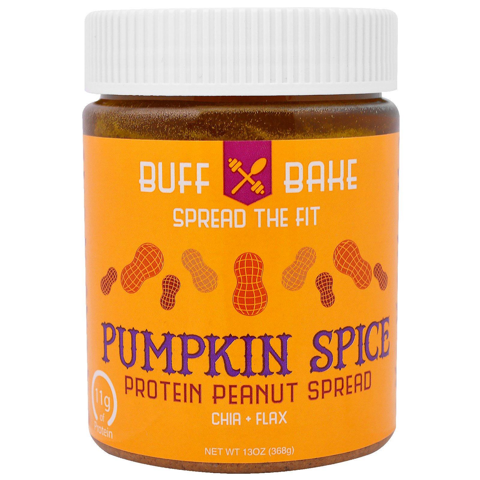 Buff Bake, Pumpkin Spice Протеиновая Миндальная Намазка, 13 унций (368 г)