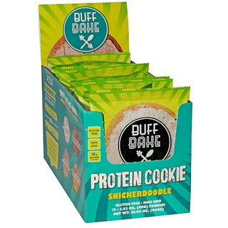 Buff Bake, Protein Cookie, Snickerdoodle, 12 Cookies, 2.82 oz (80 g) Each