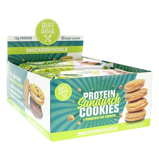 Buff Bake, Protein Sandwich Cookies, Snickerdoodle, 8 Cookie Packs, 1.79 oz (51 g) Each