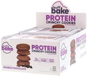 Баф Бэйк, Protein Crunchy Cookies, Double Chocolate, 8 Cookie Packs, 1.79 oz (51 g) Each отзывы