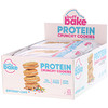Buff Bake, Protein Crunchy Cookies with Peanut Spread, Birthday Cake, 8 Cookie Packs, 14.32 oz (408 g)