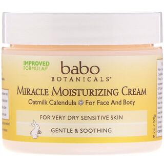 Babo Botanicals, Miracle Moisturizing Cream, 2 oz (57 g)