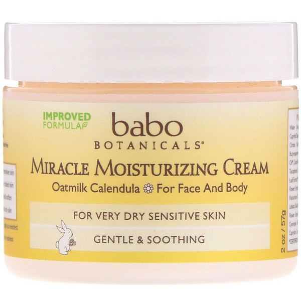 Babo Botanicals, Miracle Moisturizing Cream, 2 oz (57 g)