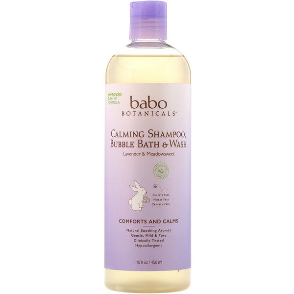 Calming Shampoo, Bubble Bath & Wash, Lavender & Meadowsweet, 15 fl oz (450 ml)