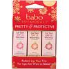 Babo Botanicals, Pretty & Protective, Lip Tint Conditioner Trio, SPF 15, 3 Pack, 0.15 oz (Each)