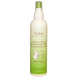 Babo Botanicals, Swim & Sport Detangling Spray, Cucumber Aloe Vera, 8 fl oz (237 ml)