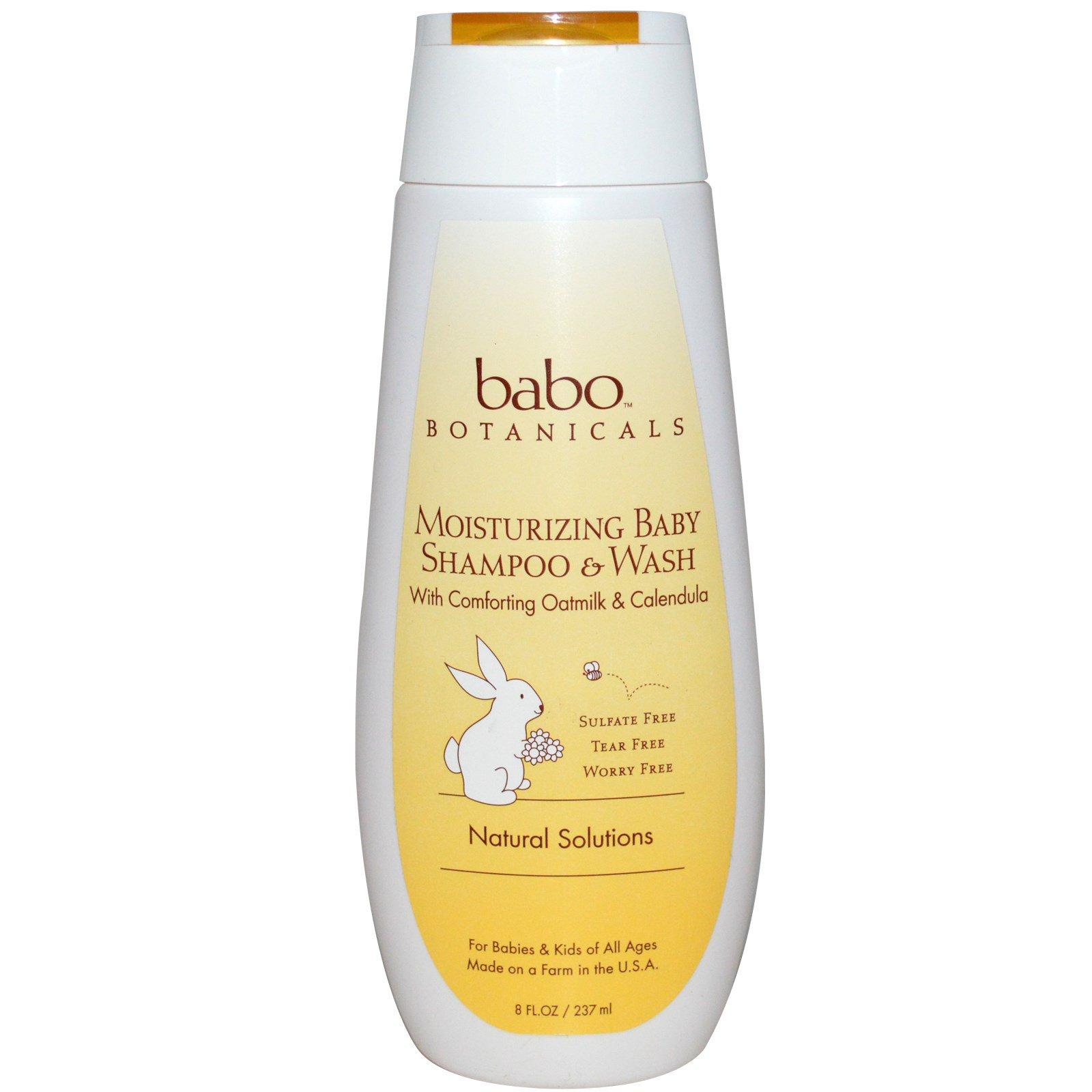 Babo Botanicals, Увлажняющий детский шампунь, овсяное молоко и календула, 8 жидких унции (273 мл)
