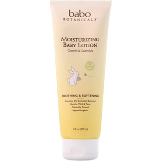 Babo Botanicals, Moisturizing Baby Lotion, Oatmilk & Calendula, 8 fl oz (237 ml)