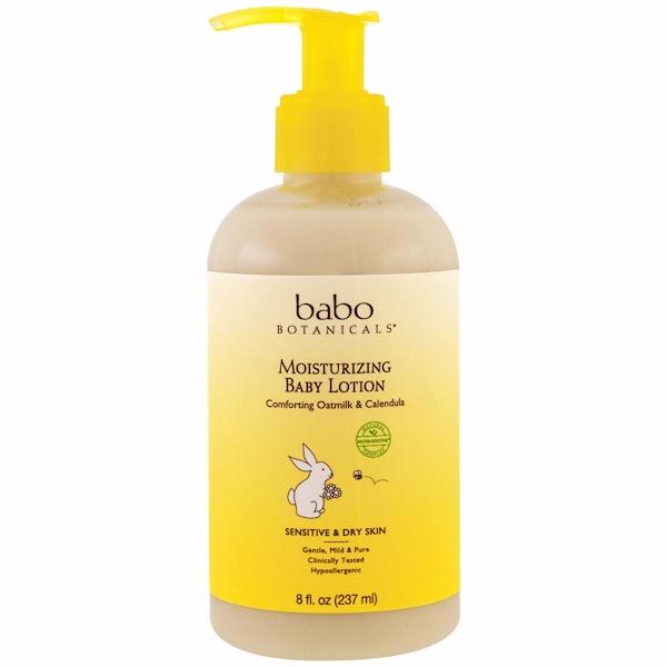 Babo Botanicals, Moisturizing Baby Lotion, Comforting Oatmilk & Calendula, 8 fl oz (237 ml)