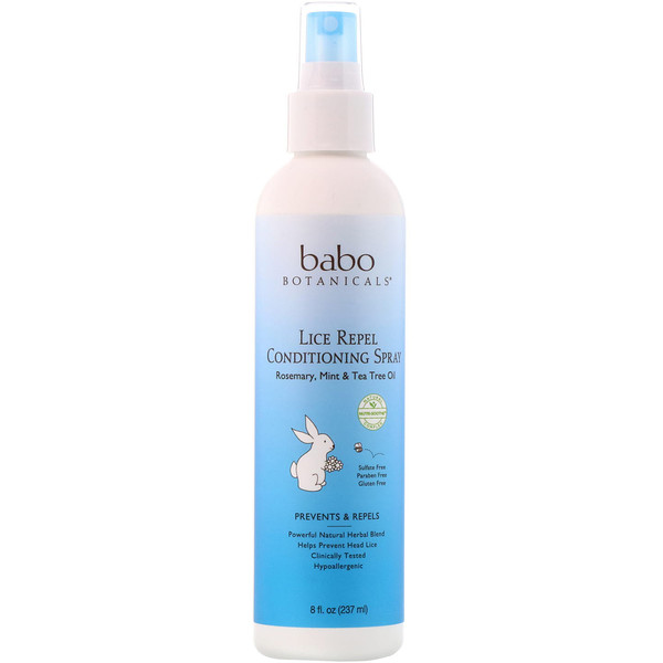 Babo Botanicals, Lice Repel Conditioning Spray, 8 fl oz (237 ml)