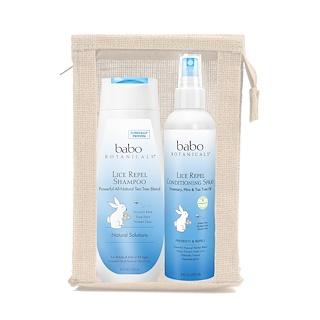 Babo Botanicals, Lice Prevention Essentials Gift Set, 2 Pieces Plus Nit