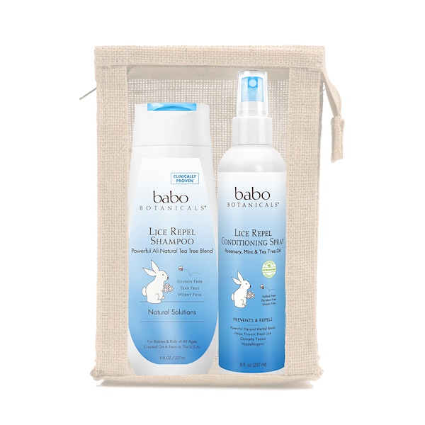 Babo Botanicals, Lice Prevention Essentials Gift Set, 2 Pieces Plus Nit