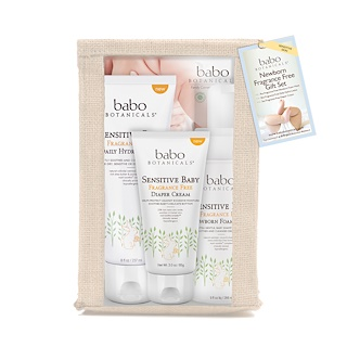 Babo Botanicals, Newborn Essentials, Oatmilk & Calendula, 3 Piece Kit