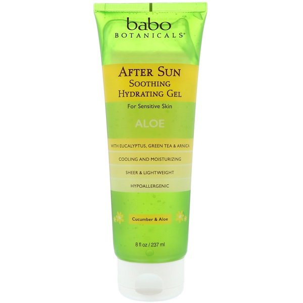 Babo Botanicals, After Sun, Soothing Hydrating Gel, Cucumber & Aloe, 8 fl oz (237 ml)