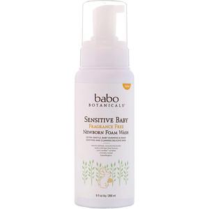 Бабо Ботаникалс, Sensitive Baby, Newborn Foam Wash, Fragrance Free, 9 fl oz (266 ml) отзывы