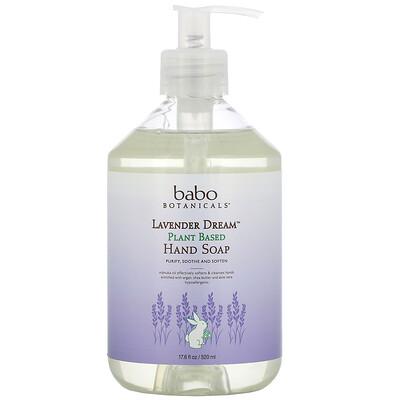 Купить Babo Botanicals Lavender Dream, Plant Based Hand Soap, 17.5 fl oz (520 ml)