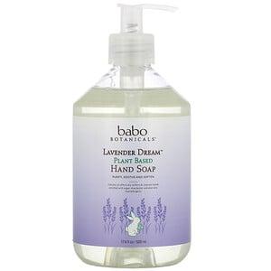 Babo Botanicals, Lavender Dream, Plant Based Hand Soap, 17.6 fl oz (520 ml)'
