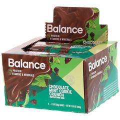 Balance Bar, Nutrition Bar, Chocolate Mint Cookie Crunch, 6 قطع, 1.76 أوقية (50 غرام) للقطعة