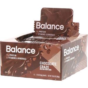 Баланс Бар, Nutrition Bar, Chocolate Craze, 6 Bars, 1.76 oz (50 g) Each отзывы покупателей