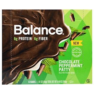 Balance Bar, Nutrition Bar, Chocolate Peppermint Patty, 6 Bars, 1.41 oz (40 g) Each