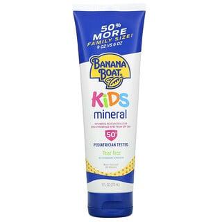 Banana Boat, Kids Mineral Based Sunscreen Lotion, SPF 50+, 9 fl oz (270 ml)