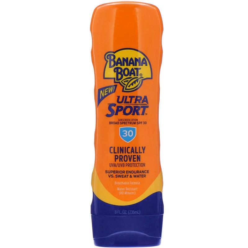 Banana Boat, Ultra Sport 系列,抗曬乳,全譜SPF 30,8 盎司(236 毫升)