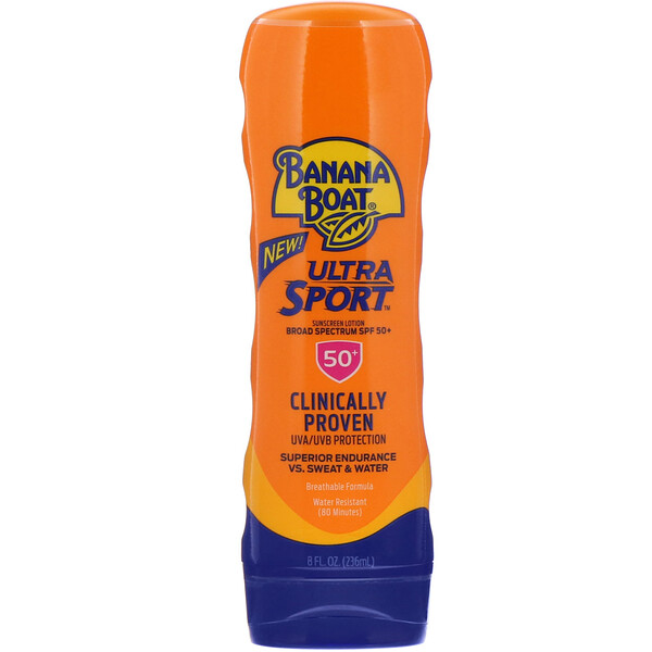 Banana Boat, Ultra Sport, Sunscreen Lotion, SPF 50+, 8 oz (236 ml)