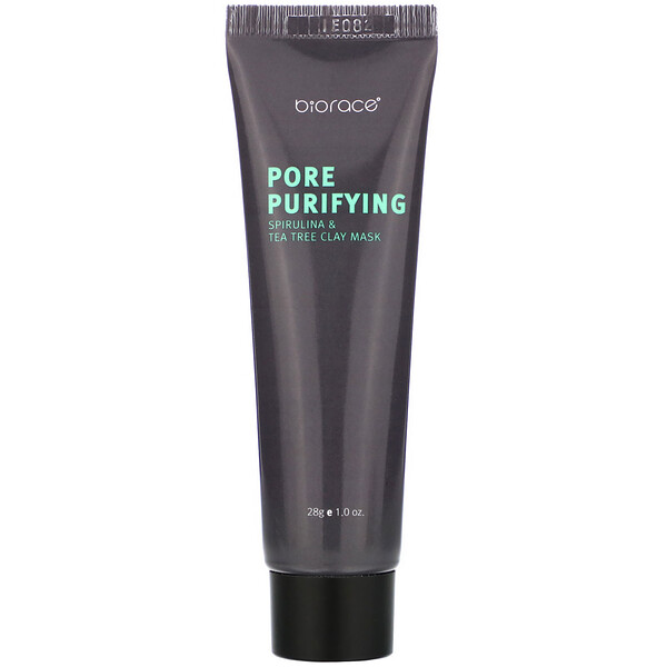 Biorace, Pore Purifying, Spirulina & Tea Tree Clay Mask, 1 oz (28 g) (Discontinued Item)