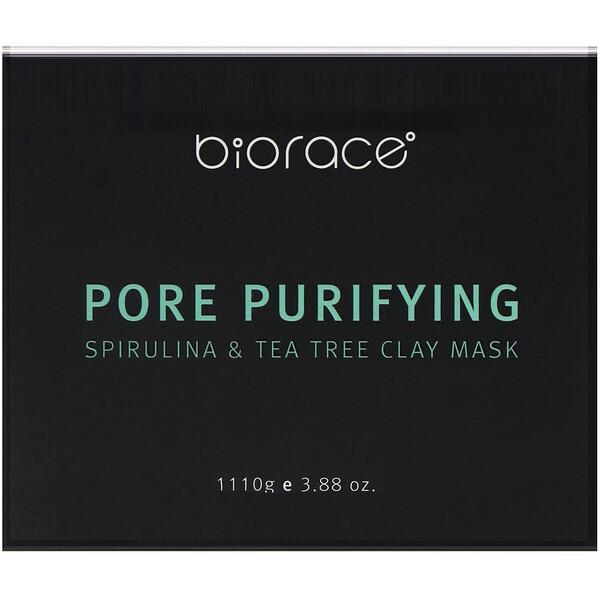 Biorace, Pore Purifying, Spirulina & Tea Tree Clay Mask, 3.88 oz (110 g)