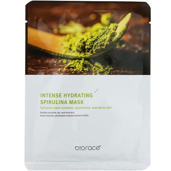 Intense Hydrating Spirulina Mask, 1 Sheet, 0.84 fl oz (25 ml)