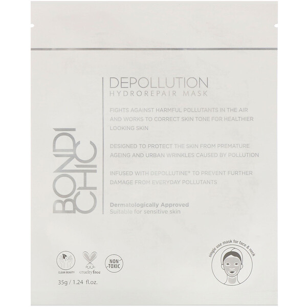 Bondi Chic, Depollution, Hydro-Repair Mask, 1 Sheet, 1.24 fl oz (35 g)