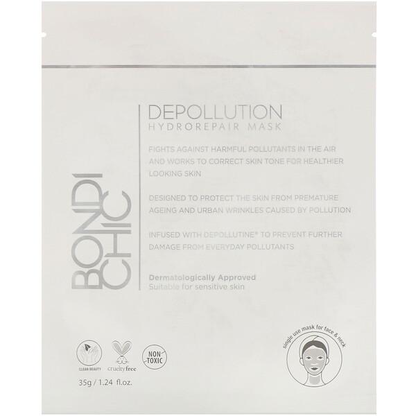 Depollution, Máscara com Hydro-Repair, 1 Folha, 35 g (1,24 fl oz)