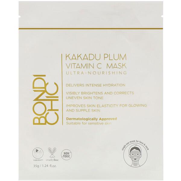 Bondi Chic, カカドゥプラム、ビタミンCマスク、1枚、35 g(1.24 fl oz)