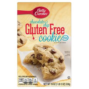 Betty Crocker, Chocolate Chip Cookie Mix, Gluten Free, 19 oz (538 g)
