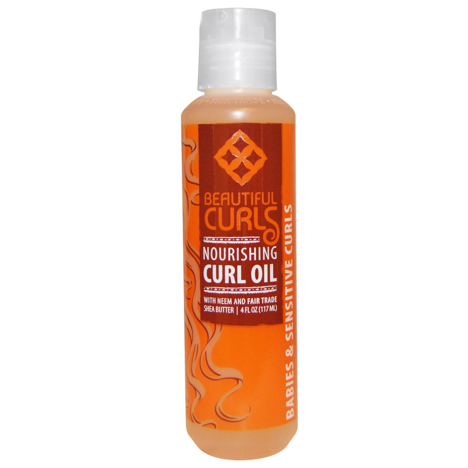 Beautiful Curls, Питательное масло для вьющихся волос, 4 унции (117 мл)