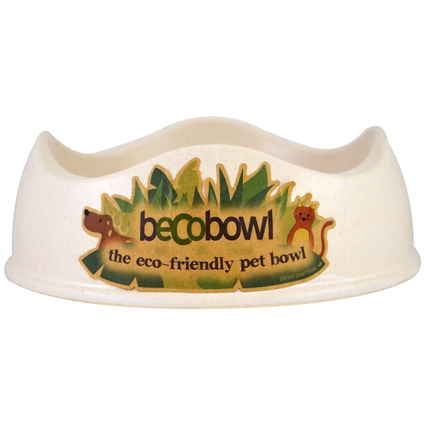 Eco-Friendly Pet Bowl, Natural, Small, 1 Bowl