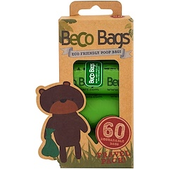 Beco Pets, Eco-Friendly Poop Bags, 60 Degradable Bags, 4 Rolls