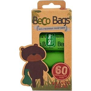 Beco Pets, Eco-Friendly Poop Bags, 60 Degradable Bags, 4 Rolls отзывы покупателей