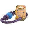 Beco Pets, Pelota con cuerda para perro, ecológica, pequeña, azul, 1 cuerda