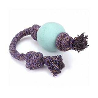 Beco Pets, Eco-Friendly Dog Ball On a Rope, Small, Blue, 1 Rope