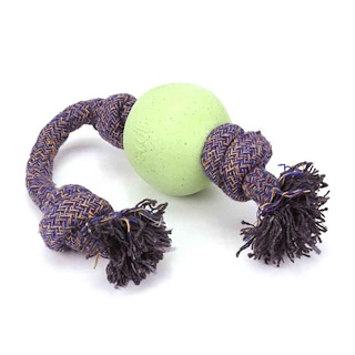 Beco Pets, Eco-Friendly Dog Ball On a Rope, Small, Green, 1 Rope