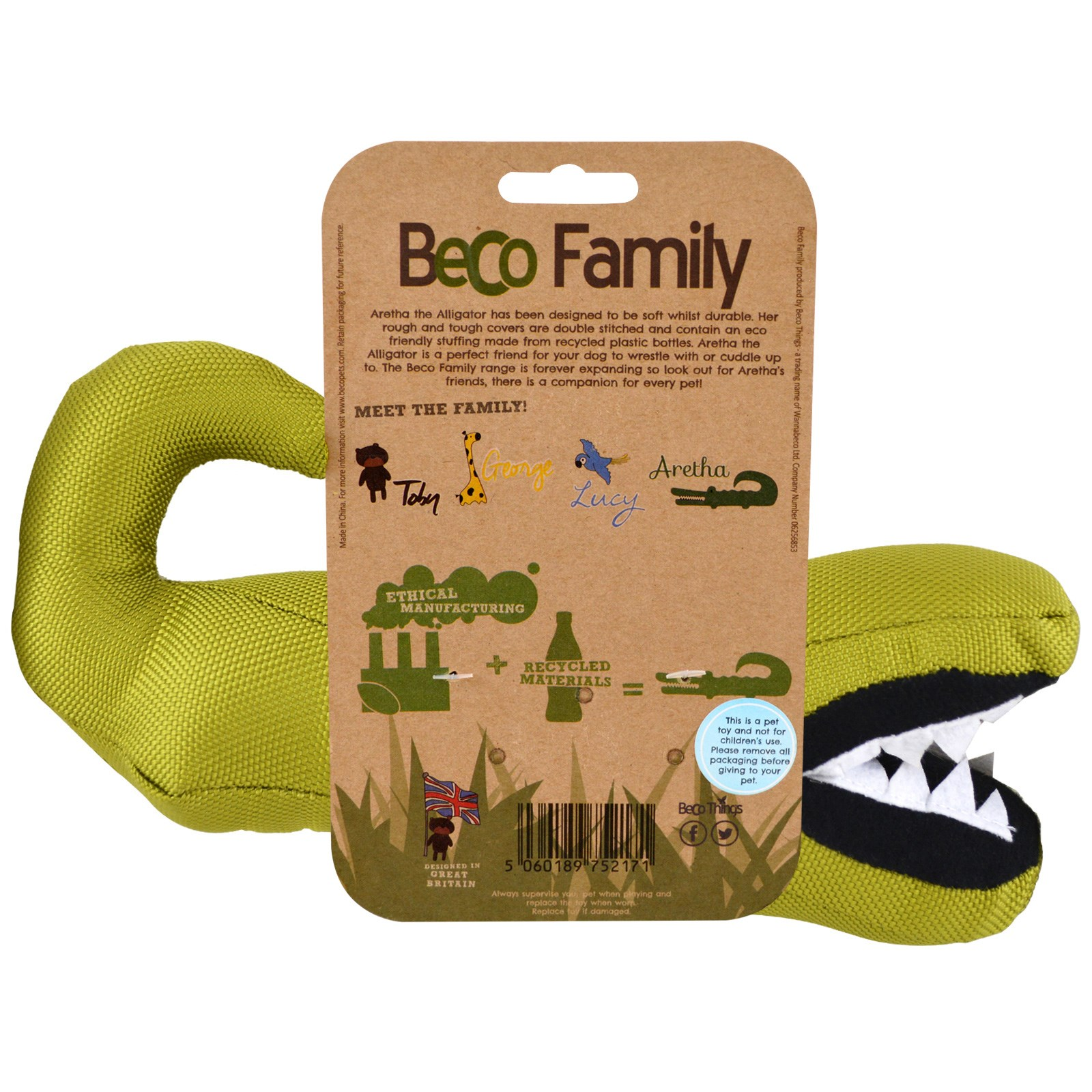 Beco Pets The Eco Friendly Plush Toy For Dogs Aretha the